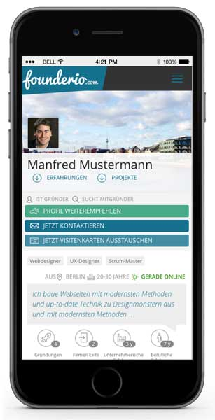 Founderio Mobile